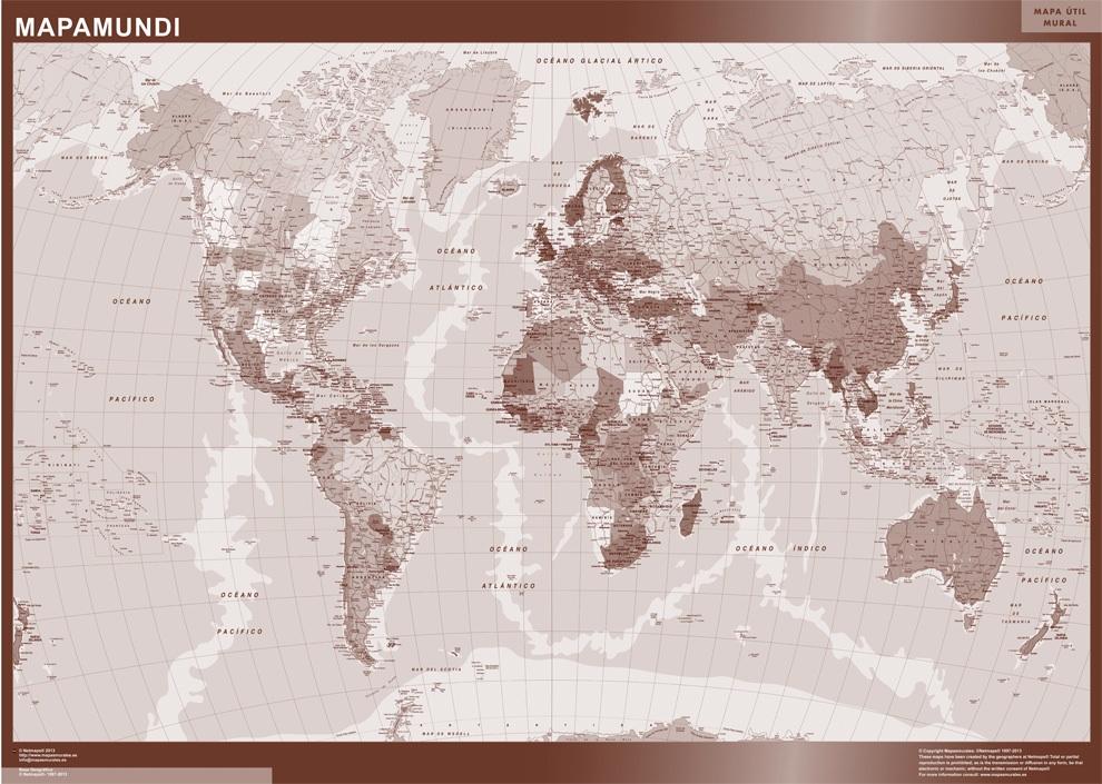 mapa del mundo color