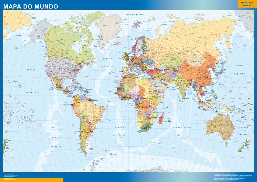 mapa del mundo portugues