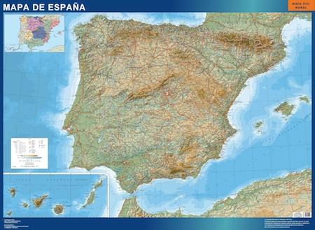 mapa espana relieve