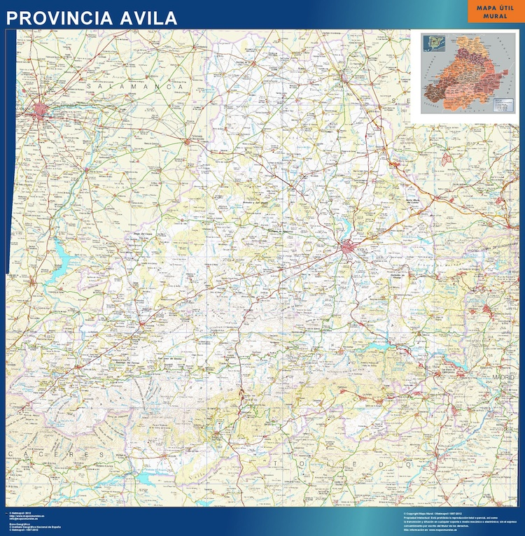 mapa provincial avila
