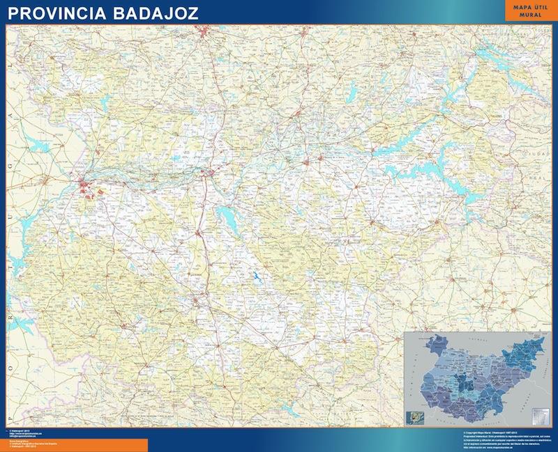 mapa provincial badajoz