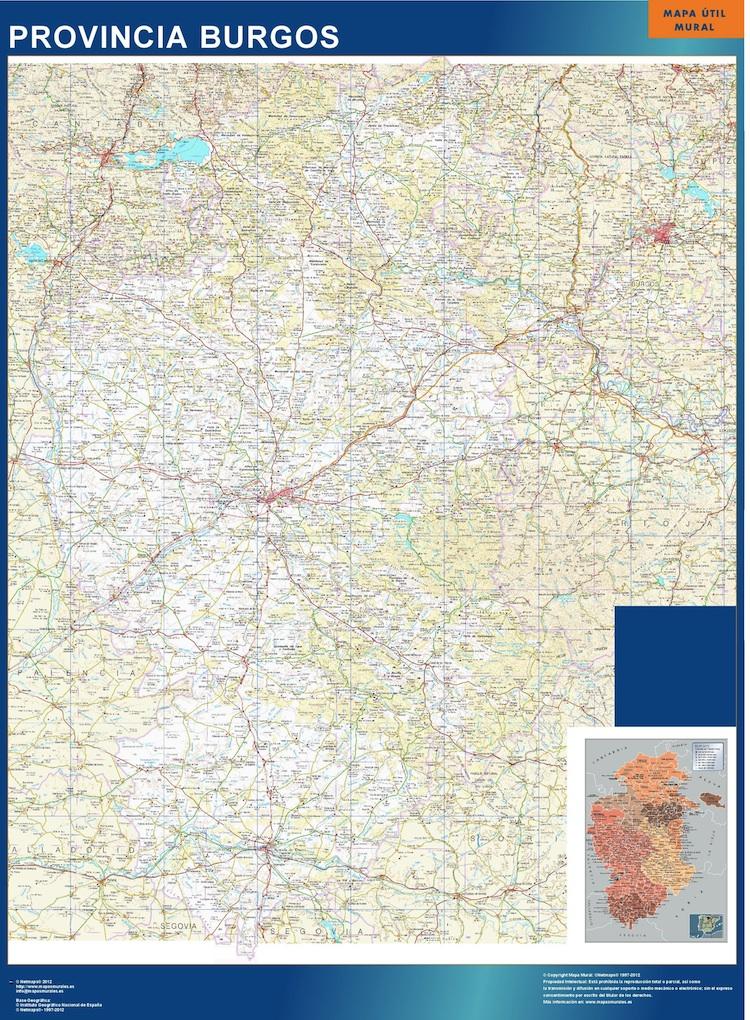 mapa provincial burgos