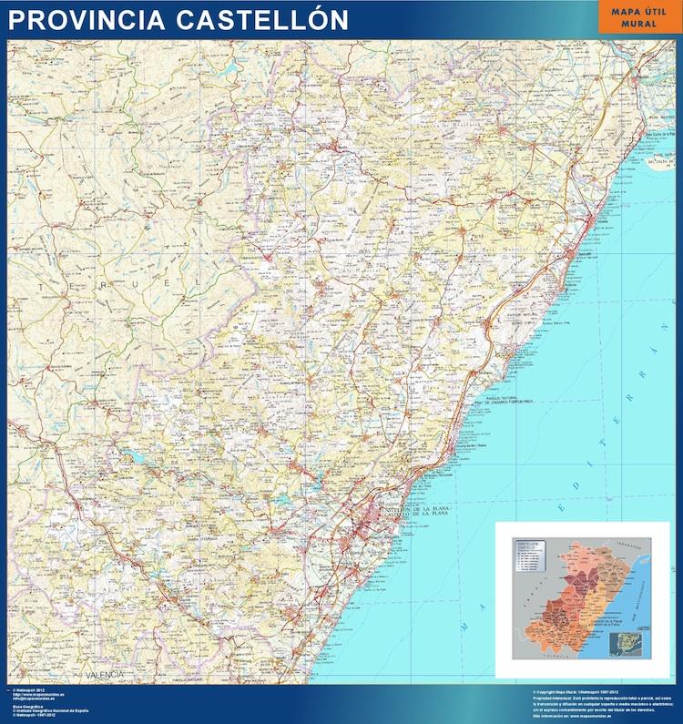 mapa provincial castellon