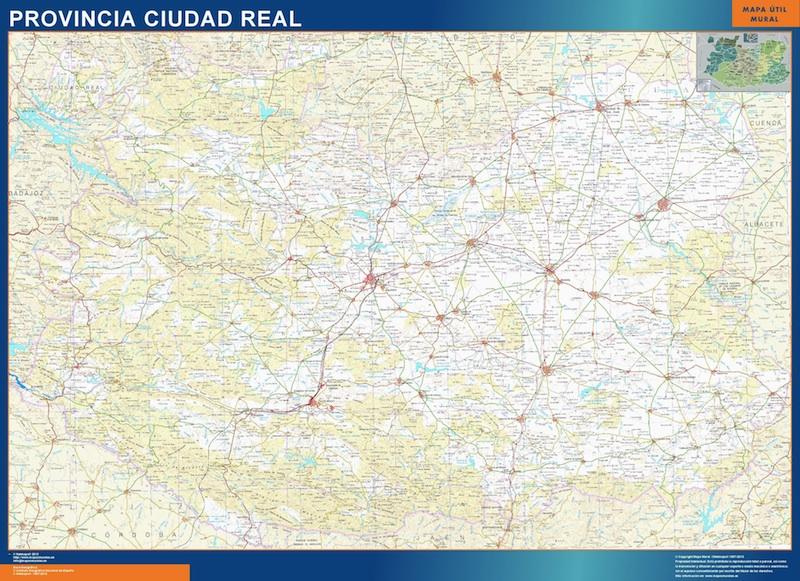 mapa provincial ciudad real