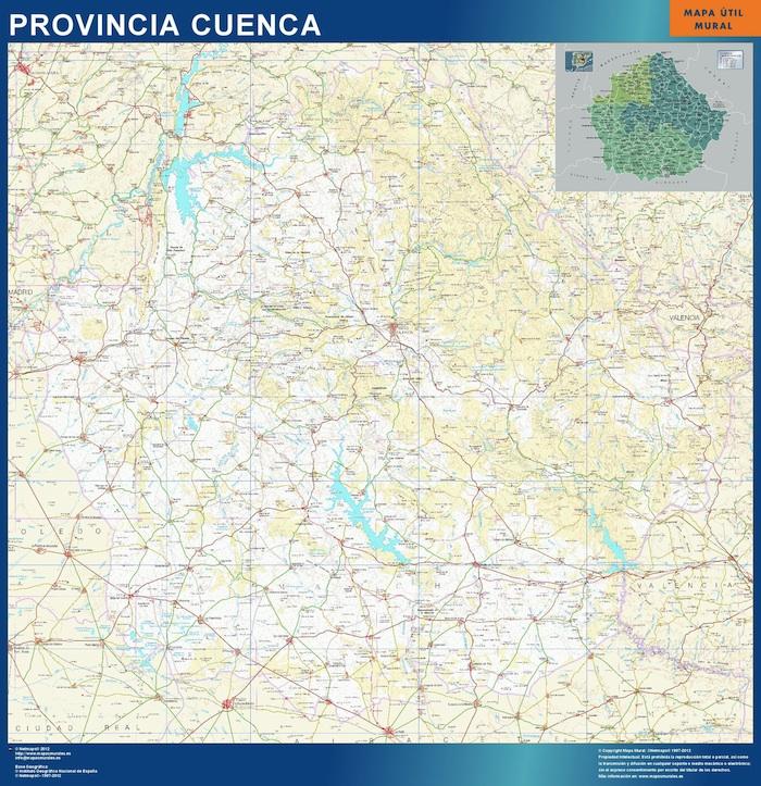 mapa provincial cuenca