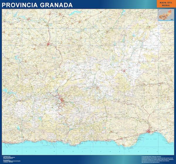 mapa provincial granada