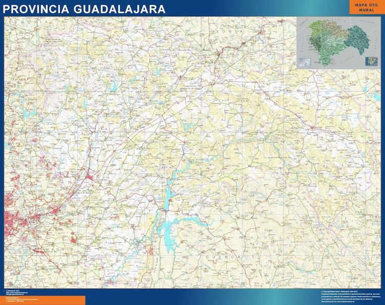 mapa provincial guadalajara