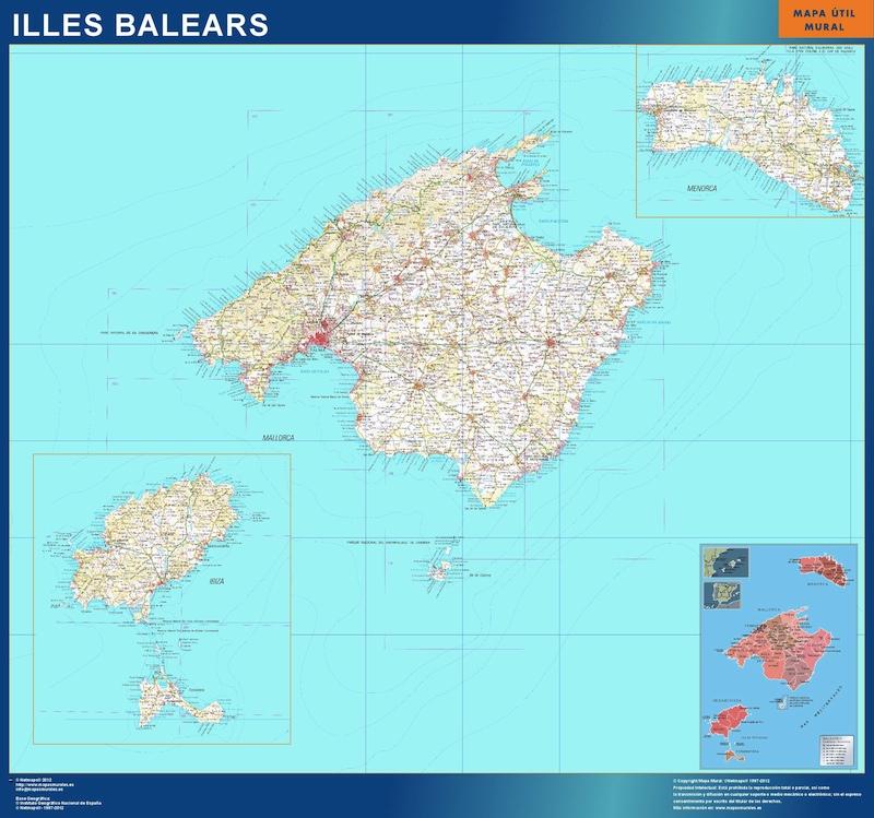 mapa provincial islas baleares