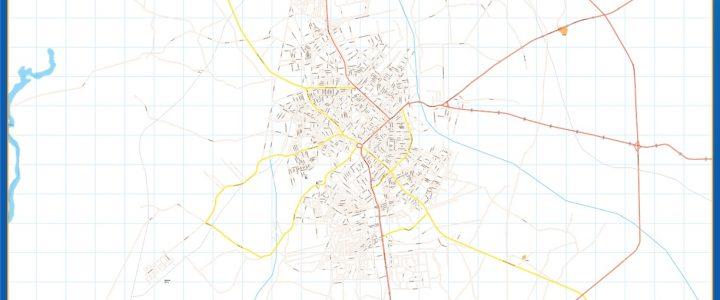 Benin City Mapa