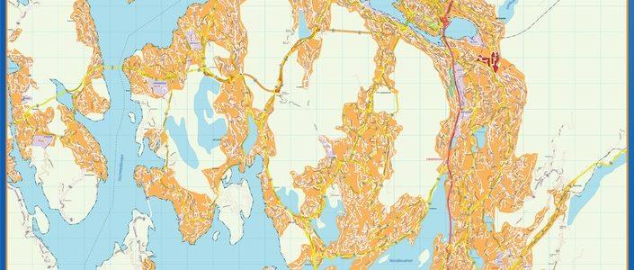 Bergen Mapa