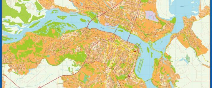 Dnipropetrovsk Mapa