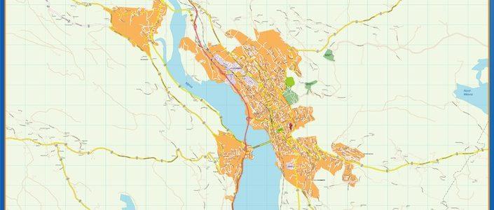 Lillehammer Mapa