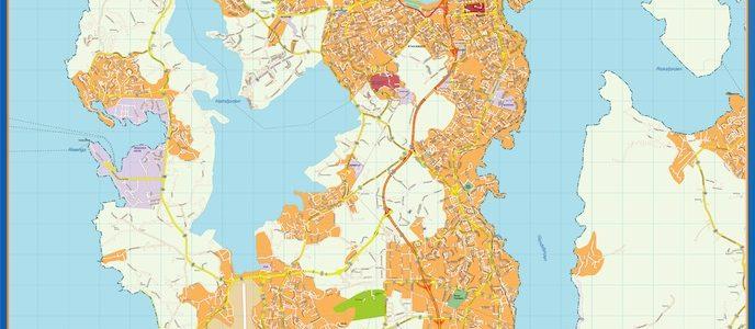 Stavanger Mapa