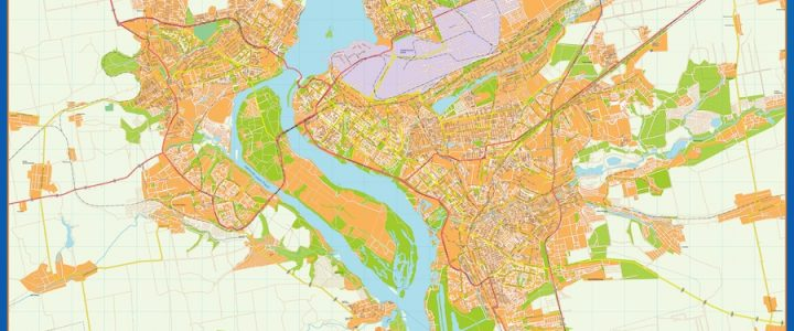 Zaporijia Mapa